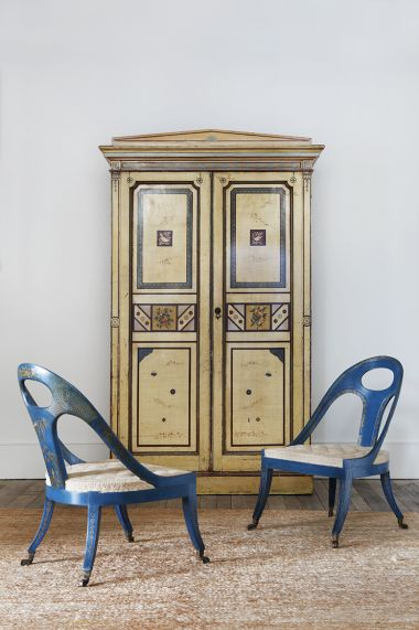 Pair of Late Regency Chinoiserie Library Chairs_2