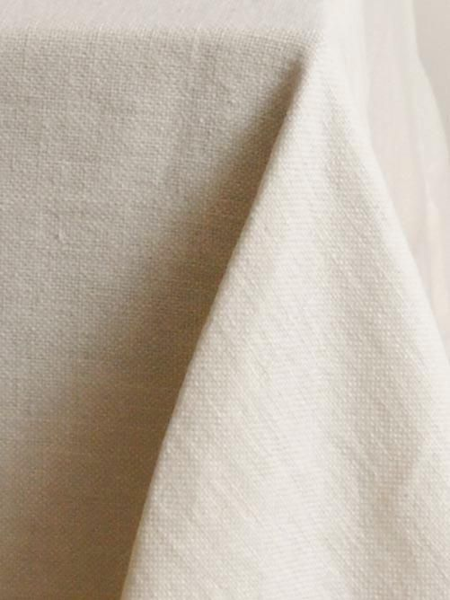 Square Tablecloth in 'Popcorn' Heavy Weight Linen_0