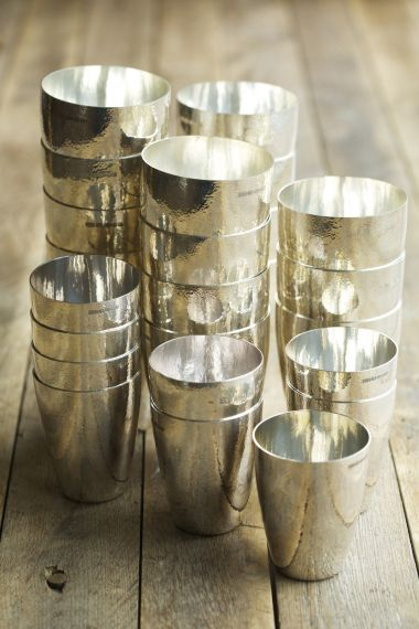 Silver Hand-Beaten Tumbler Cup by Rose Uniacke
