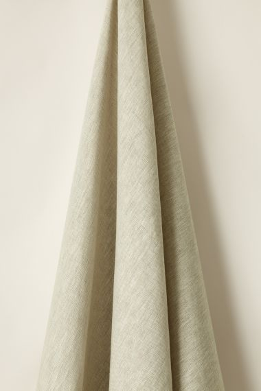 Designer Lightweight malt coloured linen fabric by Rose Uniacke.