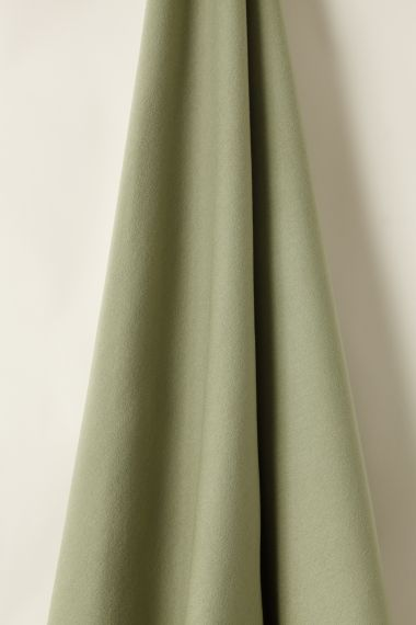 Designer Wool Fabric in Sage by Rose Uniacke