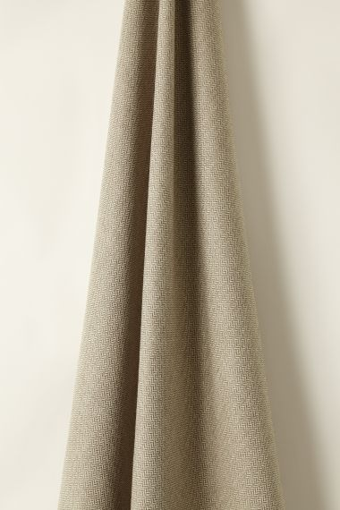 Designer Wool fabric in truffle by Rose Uniacke.