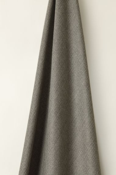 Luxury Wool fabric in pebble by Rose Uniacke.