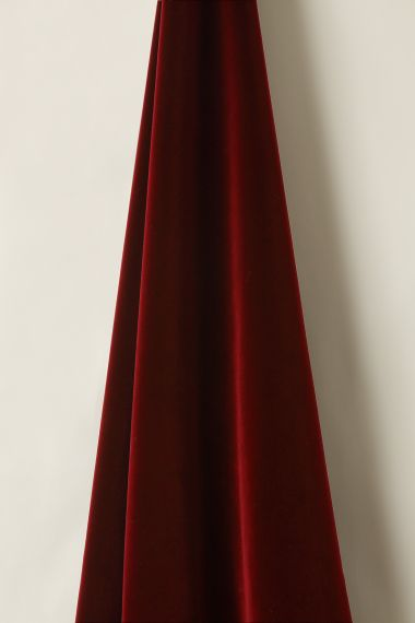 Luxury Cotton velvet fabric in madder by Rose Uniacke.