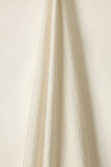 Lightweight designer plume coloured linen fabric by Rose Uniack