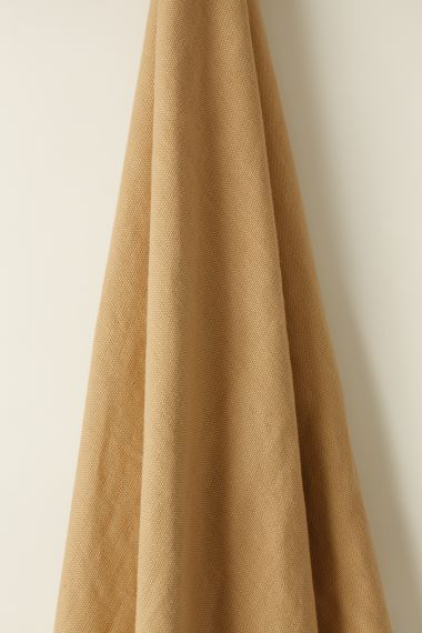 Heavy Weight Linen Fabric in Sand by Rose Uniacke