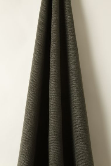Designer Heavy weight linen fabric in gun metal for use on upholstery by Rose Uniacke.