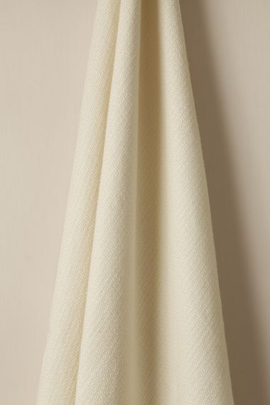 Luxury Textured Linen fabric in Woven Cream by Rose Uniacke