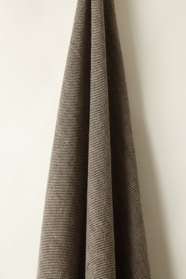 Designer Textured Linen fabric in Mono Twill by Rose Uniacke