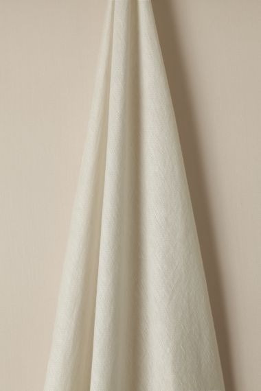 Designer Sheer linen fabric in chalk by Rose Uniacke.