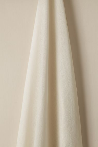 Designer Sheer linen fabric in powder by Rose Uniacke