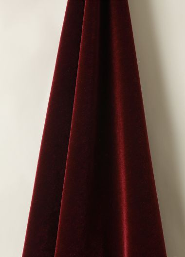 Mohair Velvet in Claret by Rose Uniacke