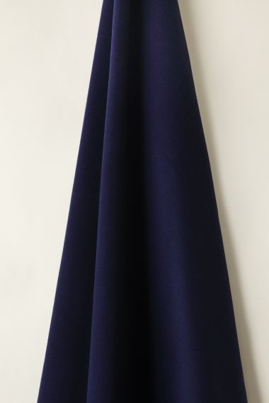 Luxury merino Wool fabirc in Royal Blue by  Designer Rose Uniacke