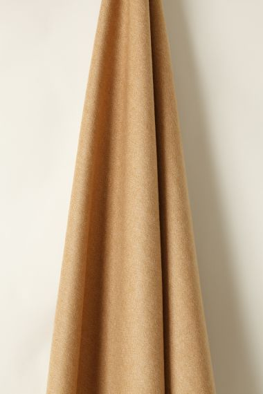 Wool in Herringbone Toffee Camel by Rose Uniacke_1