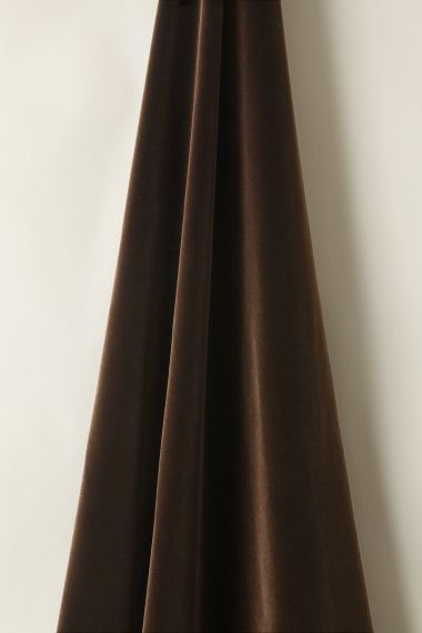 Designer cotton Velvet in Cocoa by Rose Uniacke