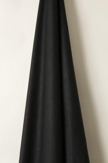 Designer Light Weight Linen fabric in Liquorice by Rose Uniacke