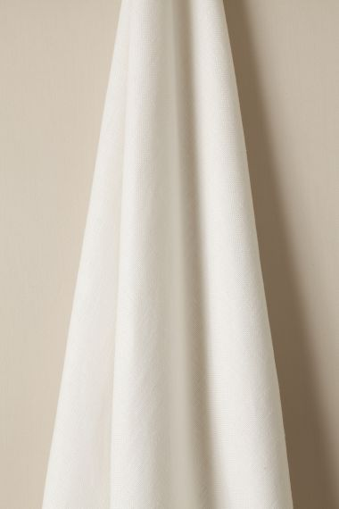 Luxury Heavy Weight Linen fabric in Snow White by Rose Uniacke