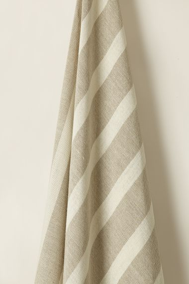 Designer Heavy weight linen fabric in Stripe I for use on upholstery by Rose Uniacke
