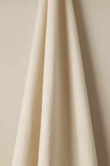 Heavy Weight Linen Fabric in Curd by Rose Uniacke