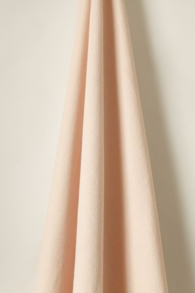 Luxury Heavy weight linen fabric in tea rose for use on upholstery by Rose Uniacke