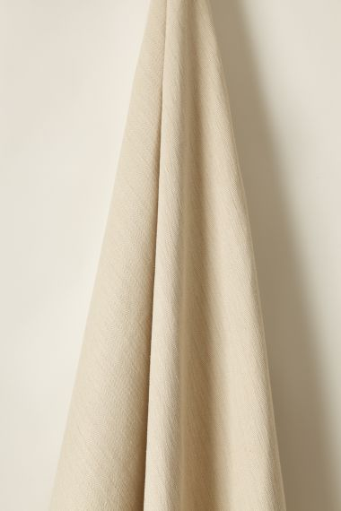 Luxury Hemp herringbone fabric by Rose Uniacke