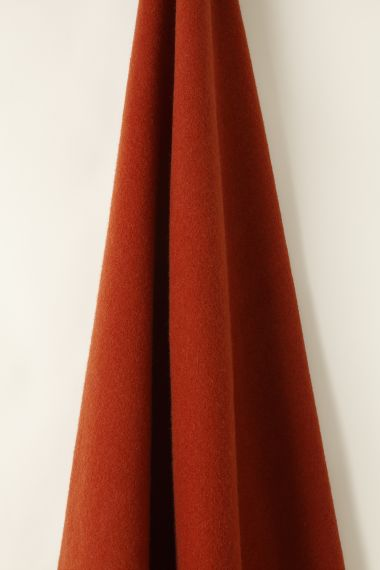 Wool fabric in Yam red by Rose Uniacke