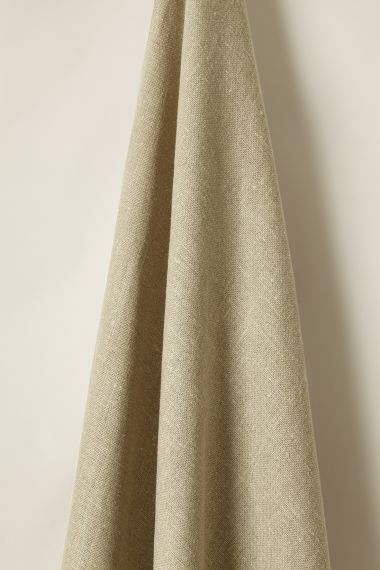 Luxury Heavy Weight Linen fabric in Flaxseed by Rose Uniacke