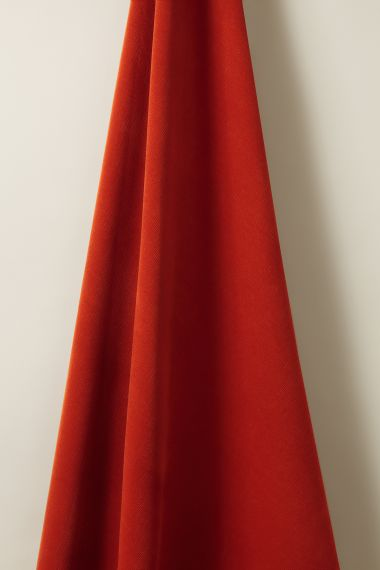 Corduroy fabric in red Rust by Rose Uniacke
