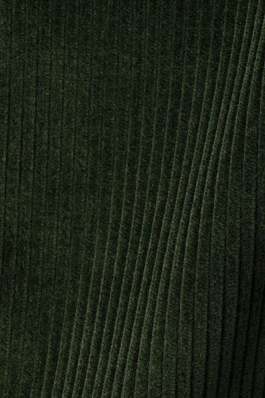 Corduroy fabric in forest green by Rose Uniacke.