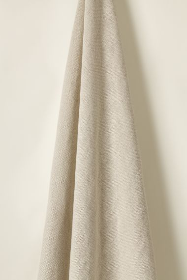 Designer Heavy weight linen fabric in mink for use on upholstery by Rose Uniacke