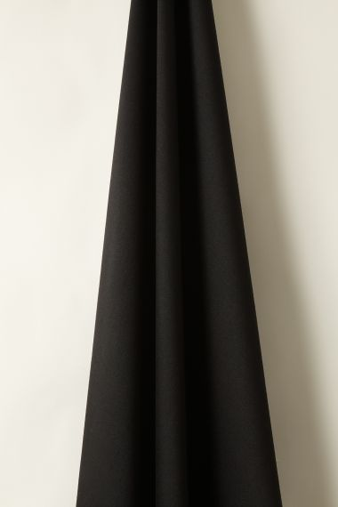 Luxury Wool fabric in black