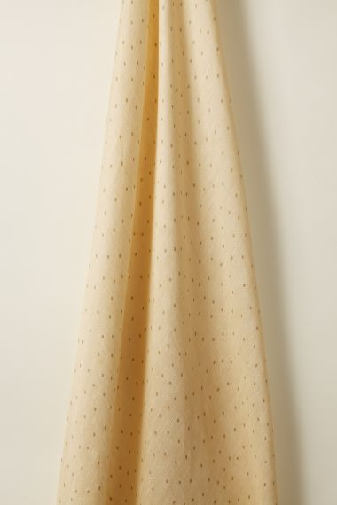 Sheer Linen fabric in Biscuit on Honey by designer Rose Uniacke