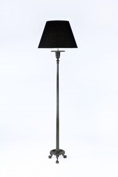 Neo-Classical Patinated Bronze Tripod Lamp_0