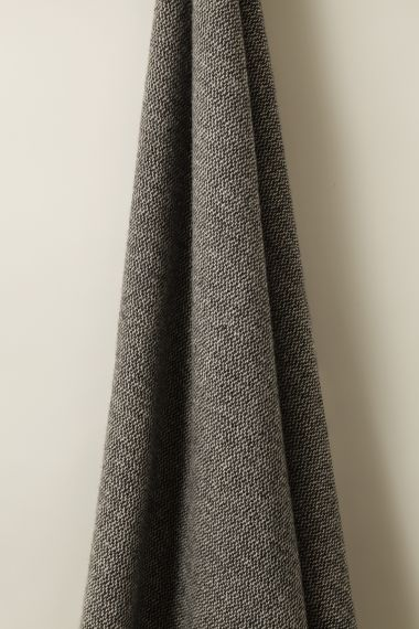 Luxury Wool Fabric in Cinder Marl by Rose Uniacke