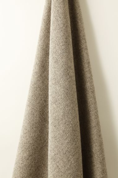 Luxury Wool fabric in grey marl by Rose Uniacke