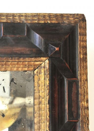 Flemish Carved & Gilded Ripple Frame Mirror_1