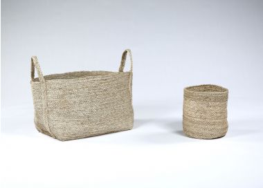 Waste Paper Basket in Natural jute_1