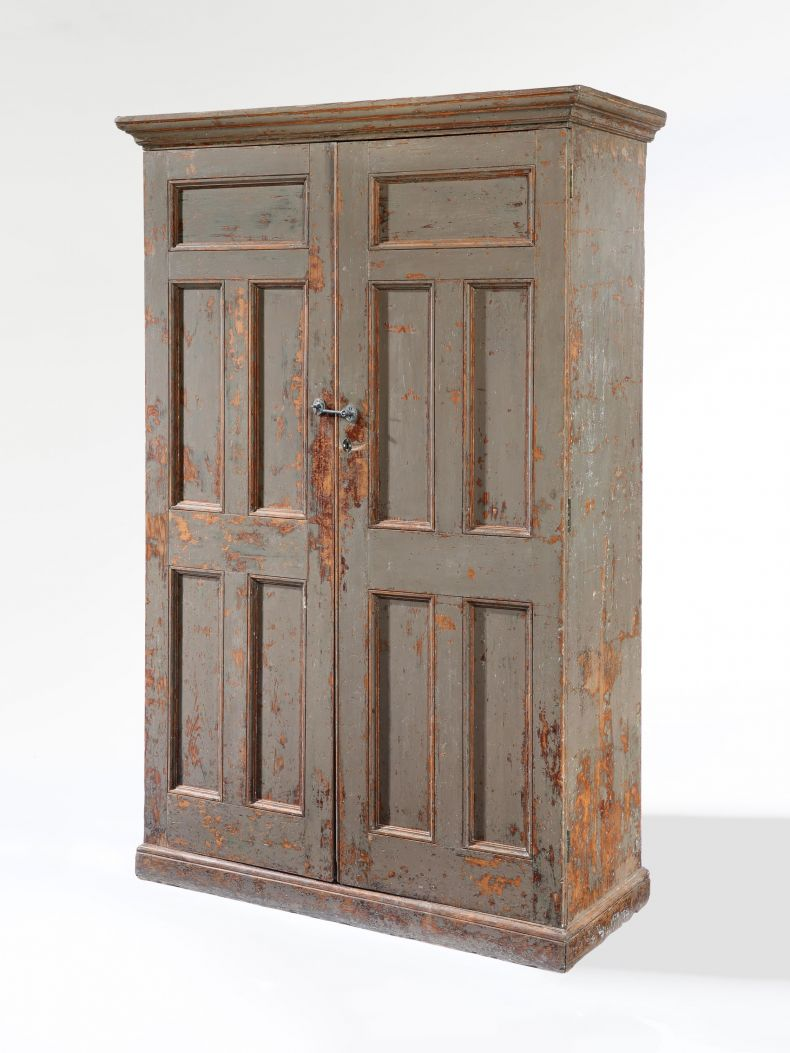 19th Century Painted Dutch Cupboard_0