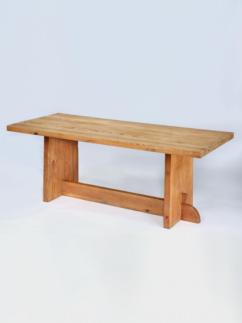 Pine 'Lovö' Table by Axel Einar Hjorth_0