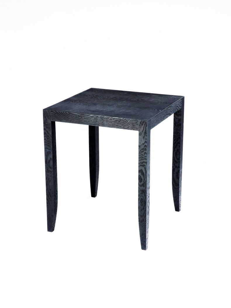 Veneered Side Table - Ebonised Japanese Ash_0