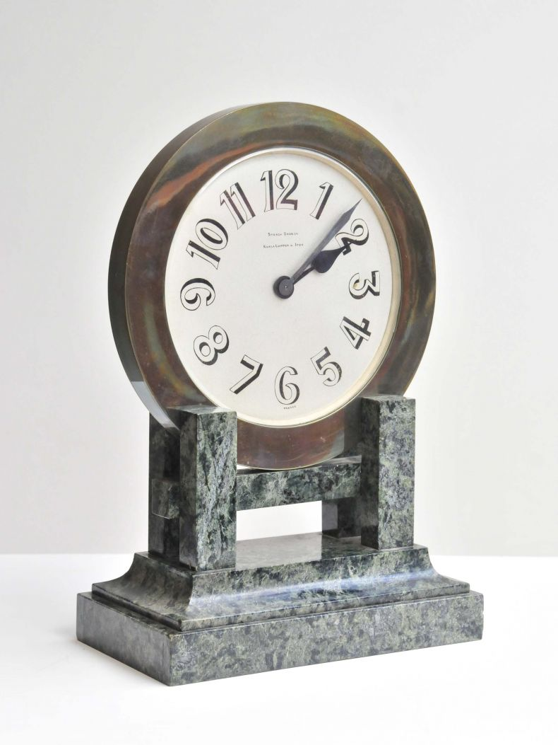 Art Deco Marble & Bronze Clock_0