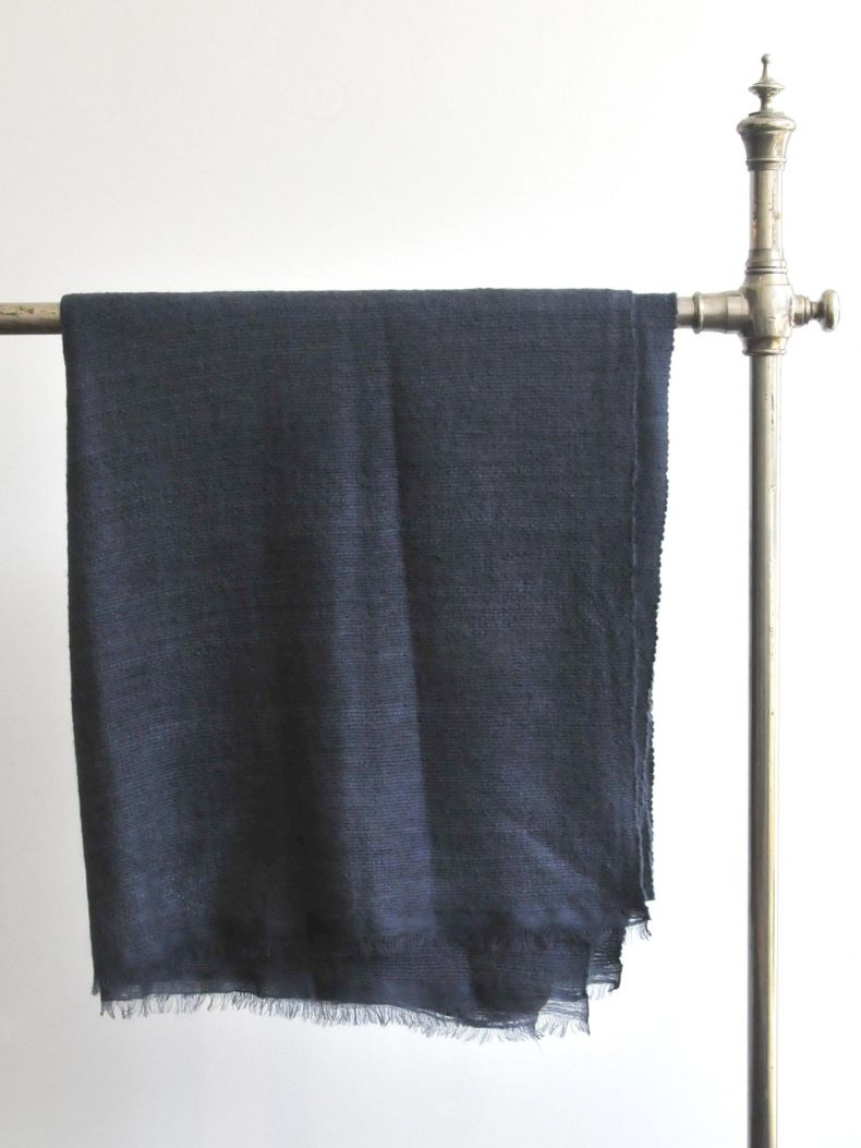 Dark Blue Cashmere Blanket_0