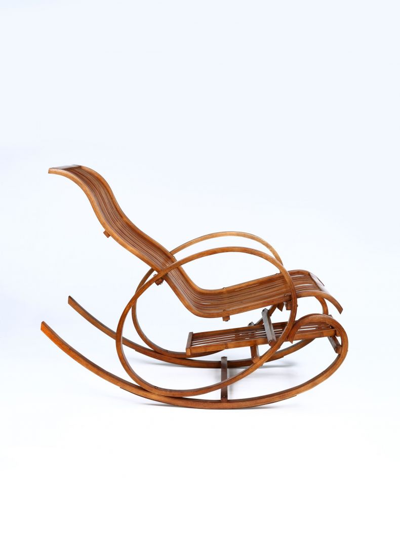 Mid-Century Bentwood Rocking Chair_0