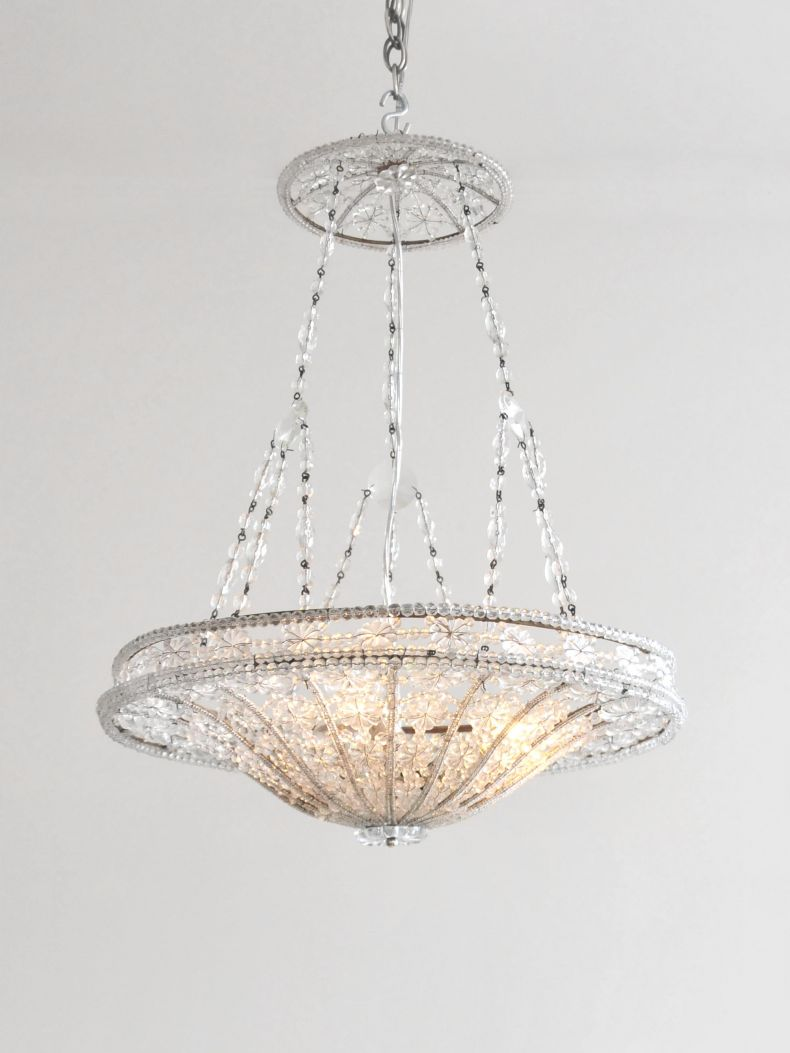 Early Art Deco Italian Chandelier_0