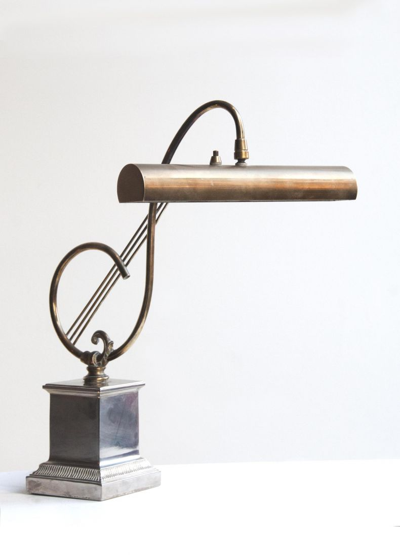 A Silver-Plated 'Treble Clef' Desk Lamp_0