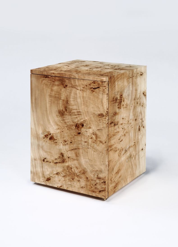 Burr Poplar side table by Rose Uniacke