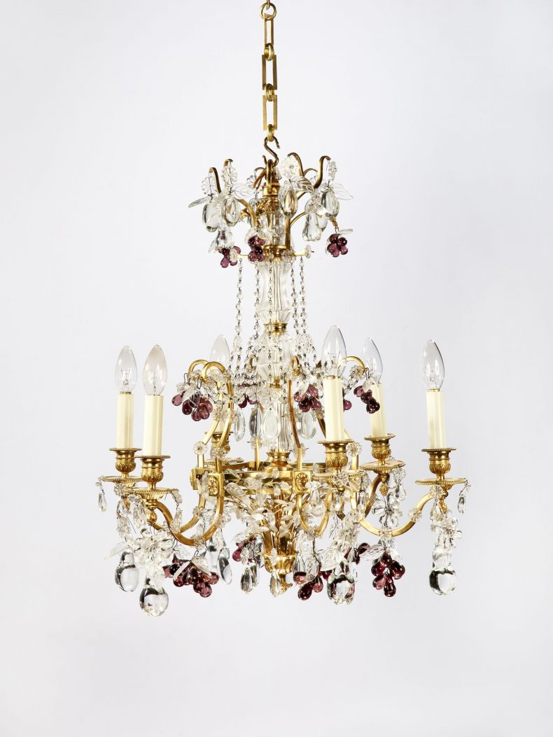 20th Century Six Branch Chandelier by Maison Baguès_0