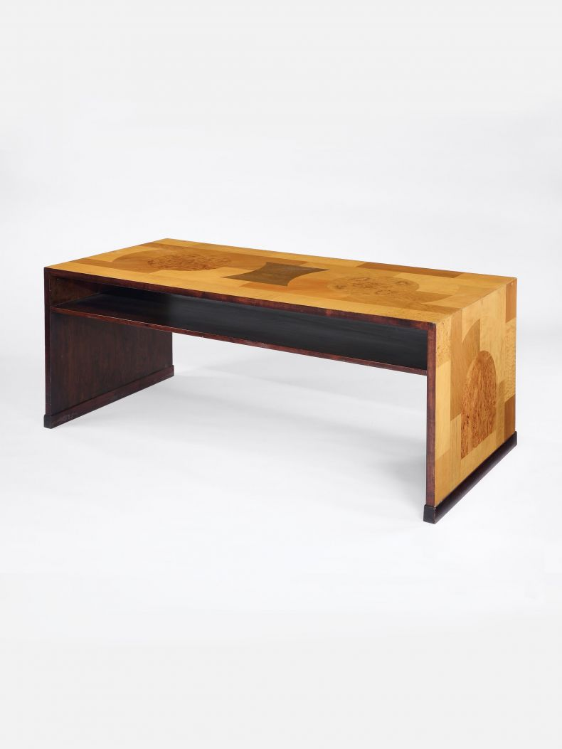 Swedish Art Deco Veneered Writing Desk_0