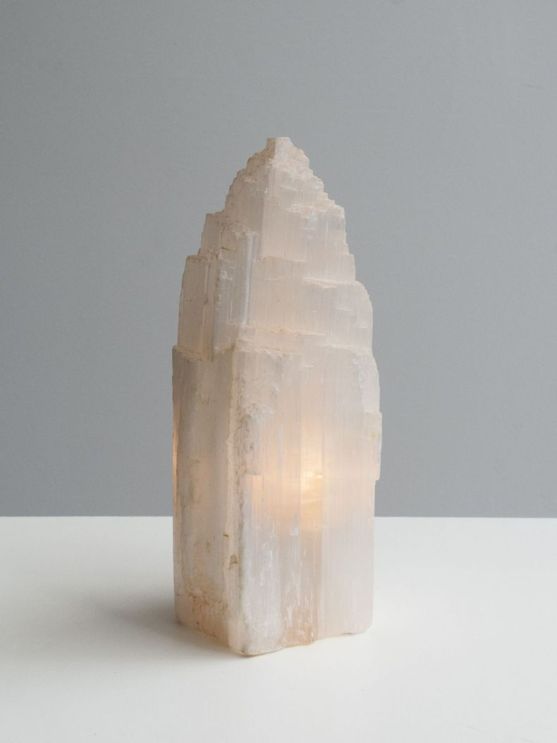 1970's Quartz Table Lamp_0