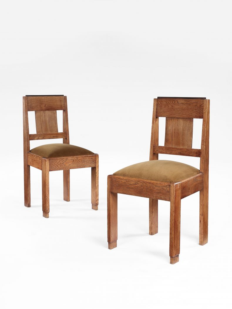Set of Six Art Deco Dining Chairs by Hendrik Wouda_0